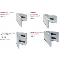 CUADRO EMPOTRAR PVC, caja de 1 a 4 elementos + aut. de 6 a14
