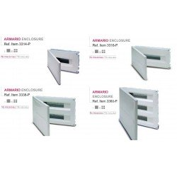 CUADRO EMPOTRAR PVC, caja hasta 60 elementos