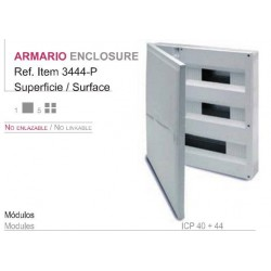 CUADRO SUPERFICIE PVC, caja de 1 a 4 elementos (ICP-40)+ aut. hasta 44 elementos