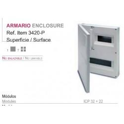 CUADRO SUPERFICIE PVC, caja de 1 a 4 elementos (ICP 32) + aut. de 16 a 22 elementos
