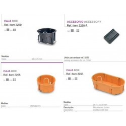 Caja pladur Diámetro 67x39 para mecanismos doble