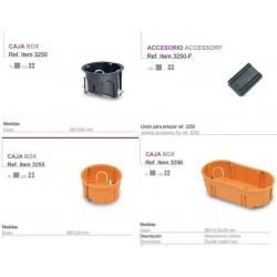 Caja pladur Diámetro  67x39 para mecanismos triple