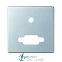 Placa conector VGA y mini jack simon serie 82 Detail color Aluminio mate