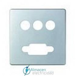 Placa conector VGA + 3RCA simon serie 82 Detail color Aluminio frio detail 82