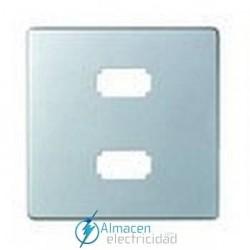 Placa 2 conectores USB 2.0 simon serie 82 Detail color Aluminio frio detail 82