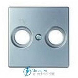 Placa tomas de TV simon serie 82 Detail color Aluminio frio detail 82