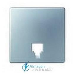 Tapa toma de telefono simon serie 82 Detail color Aluminio frio detail 82