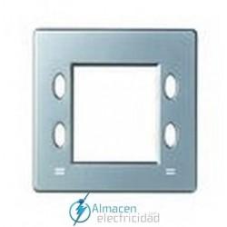Placa mecanismos electrónicos simon serie 82 Detail color Aluminio frio detail 82