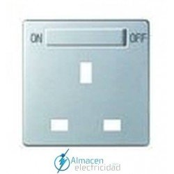 Tapa enchufes con interruptor simon serie 82 Detail color Aluminio frio detail 82