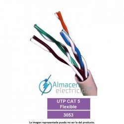 Cable de datos tipo UTP CAT 5 FLEXIBLE