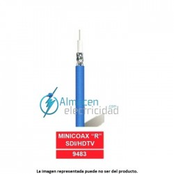 "Cable video minicoaxial profesional MINICOAX ""R"" HDTV VERDE"