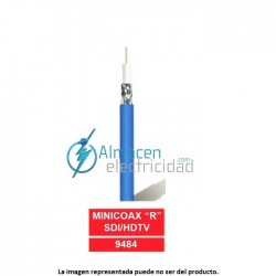 "Cable video minicoaxial profesional MINICOAX ""R"" HDTV NEGRO"