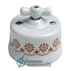 FONTINI GARBY COLLECTION PULSADOR ROTATIVO CON LAZO DE PORCELANA