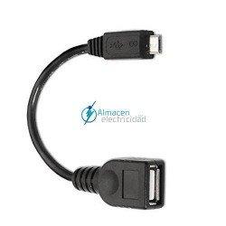 Cable USB 2.0 para impresora tipo A macho-B macho en color beige de 1,8 metros de largo