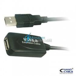 Prolongador cable USB 2.0 con amplificador conexión tipo A macho-A hembra de 5 metros de largo