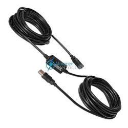 Prolongador cable USB 2.0 con amplificador conexión tipo A macho-A hembra de 15 metros de largo
