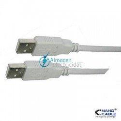 Cable USB 2.0 tipo A macho-A macho de 1 metro de largo
