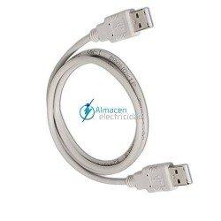 Cable USB 2.0 tipo A macho-A macho de 2 metros de largo