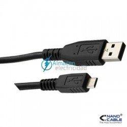 Cable USB 2.0 tipo A macho-Micro USB B Macho de 1,8 metros de largo