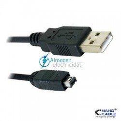 Cable USB 2.0 tipo A macho-Mini USB 4PIN HIROSE Macho de 1,8 metros de largo