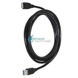 Cable USB 3.0 tipo A Macho-MICRO B Macho de 1 metro de largo en negro