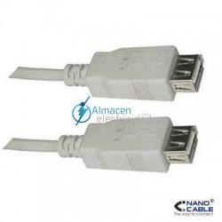 Cable USB 2.0 tipo A Hembra-A Hembra de 0,5 metros de largo en color beige
