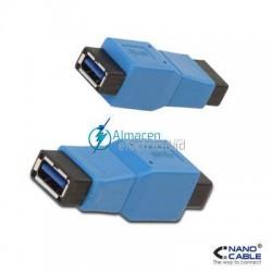ADAPTADOR USB 3.0 CONECTORES TIPO A HEMBRA-MICRO A HEMBRA