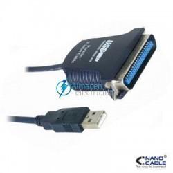 CONVERTIDOR USB MACHO A PUERTO PARALELO CN36(IEEE1284) MACHO DE  1.5 METROS