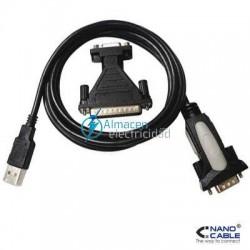 CONVERTIDOR USB A SERIE CONECTOR A/MACHO- RS232 DB9/MACHO DB25/MACHO
