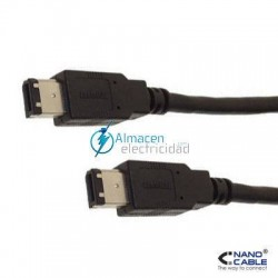 CABLE FIREWIRE (IEEE1394A) 6 PINES/MACHO-6 PINES/MACHO 400MBPS Y 1,8 METROS