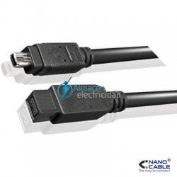 CABLE FIREWIRE IEEE1394B BILINGUAL 9 PINES/MACHO-4/MACHO VELOCIDAD DE 800MBPS 1,8 METROS