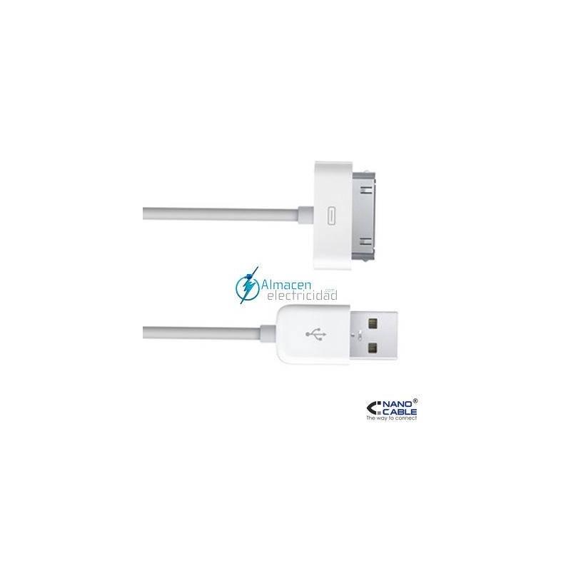 CABLE DE IPOD A USB 2.0 TIPO A MACHO DE 0,8 METROS