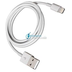CABLE TIPO LIGHTNING PARA IPHONE A USB 2.0 CONEXIÓN LIGHTNING/MACHO-USB TIPO A/MACHO 1 METRO DE LARGO