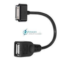 CABLE USB 2.0 PARA SAMSUNG OTG SAMSUNG 30 PINES/MACHO-TIPO A/HEMBRA 15 CM DE LARGO COLOR NEGRO