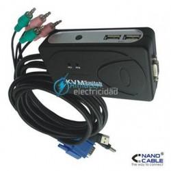 KVM SWITCH VGA USB PARA CONTROLAR 2 PC CON 1 TECLADO 1 RATON Y UNA PANTALLA.