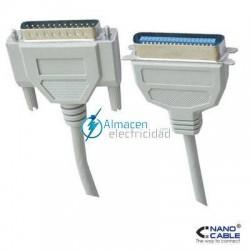 CABLE DE IMPRESORA PUERTO PARALELO DB25 MACHO - CN36 MACHO DE 1,8 METROS