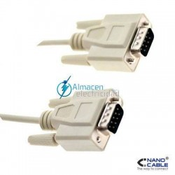 CABLE SERIE RS232 DB9 MACHO-DB9 MACHO DE 1,8 METROS