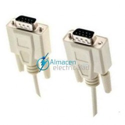 CABLE SERIE RS232 DB9 MACHO-DB9 MACHO DE 3 METROS