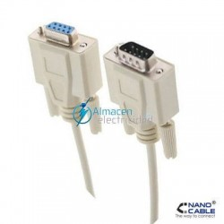 CABLE SERIE RS232 DB9 MACHO-DB9 HEMBRA DE 1,8 METROS