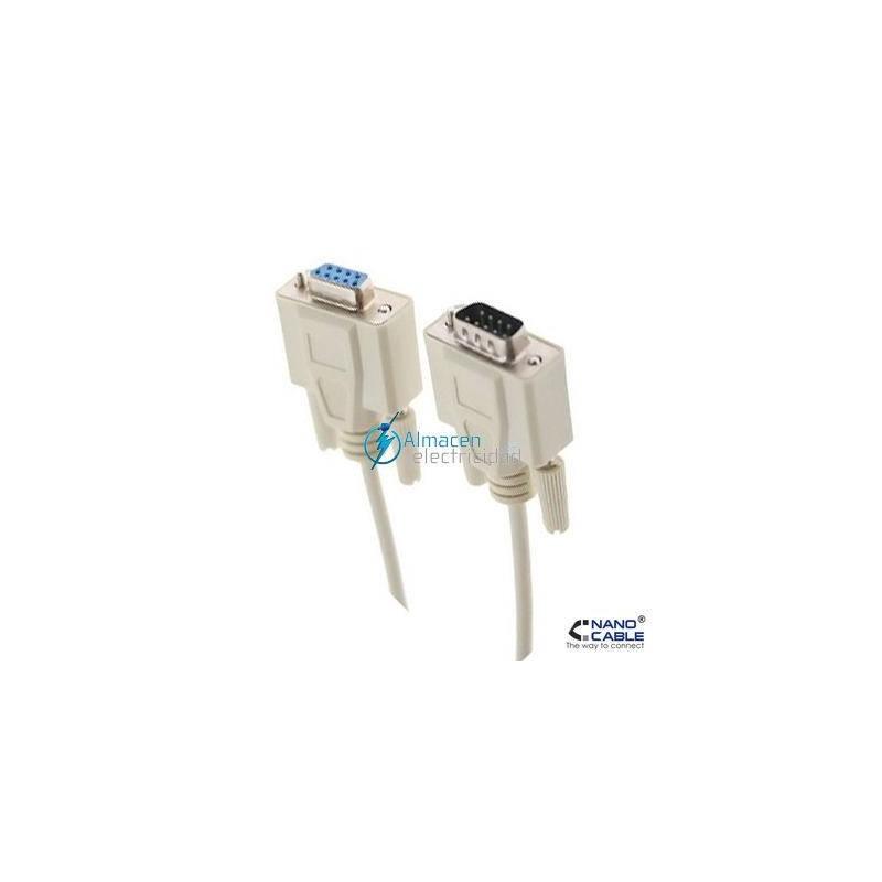 CABLE SERIE RS232 DB9 MACHO-DB9 HEMBRA DE 1,8 METROS
