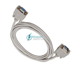 CABLE SERIE NULL MODEM DB9 MACHO-DB9 HERMBRA DE 1,8 METROS