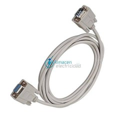 CABLE SERIE NULL MODEM DB9 MACHO-DB9 HERMBRA DE 3 METROS