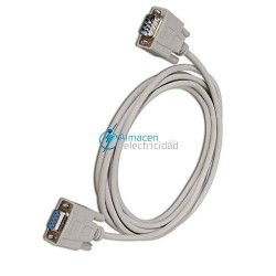 CABLE SERIE NULL MODEM DB9 MACHO-DB9 HERMBRA DE 6 METROS