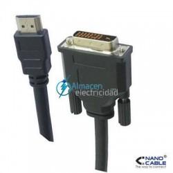 CABLE DVI A HDMI MACHO-MACHO DE 1,8 METROS