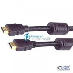 CABLE HDMI V.1.3 CON FERRITA MACHO-MACHO 1,8 METROS