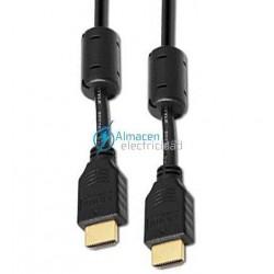 CABLE HDMI V.1.3 CON FERRITA MACHO-MACHO 5 METROS