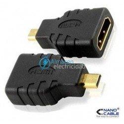 ADAPTADOR HDMI V1.3 HEMBRA-MICRO HDMI MACHO