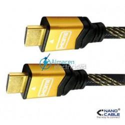 CABLE HDMI V1.4 CON CONEXIONES DE ORO MACHO-MACHO DE 1,8 METROS