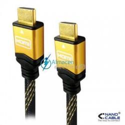 CABLE HDMI V1.4 CON CONEXIONES DE ORO MACHO-MACHO DE 3 METROS