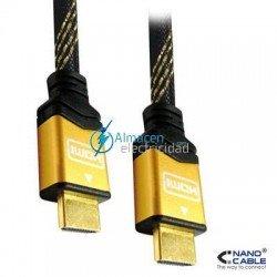 CABLE HDMI V1.4 CON FERRITA Y CONEXIONES DE ORO MACHO-MACHO DE 1 METRO